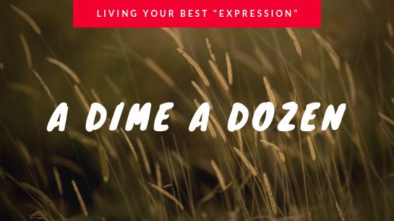 A DIME A DOZEN – LIVING YOUR BEST EXPRESSION