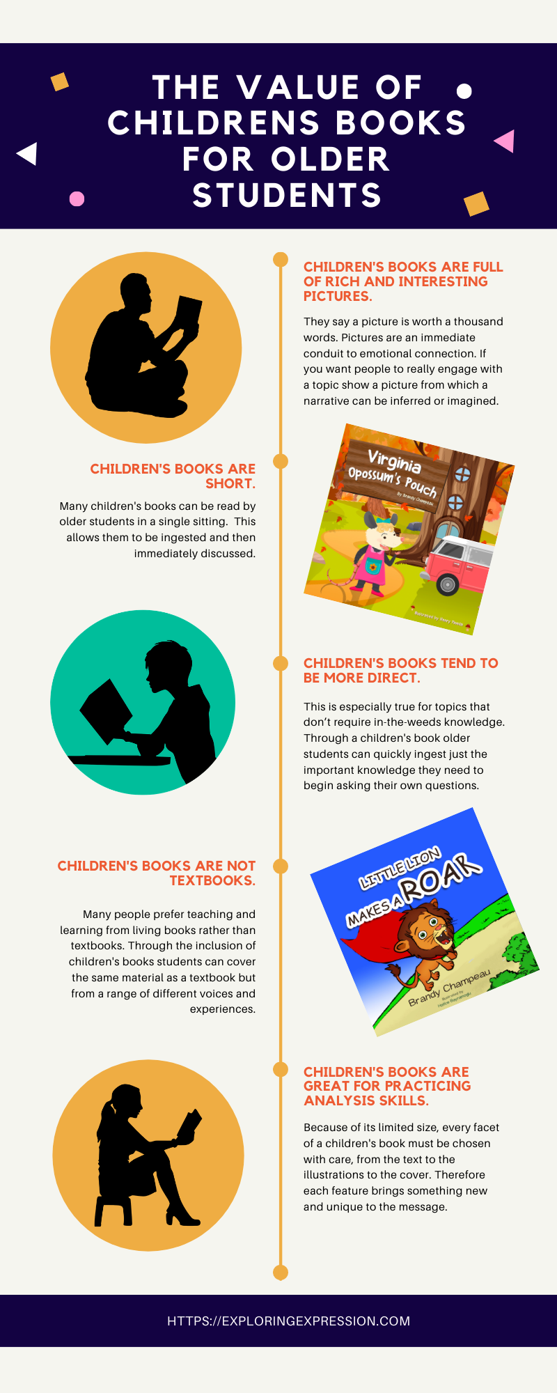 the value of children's books for older students